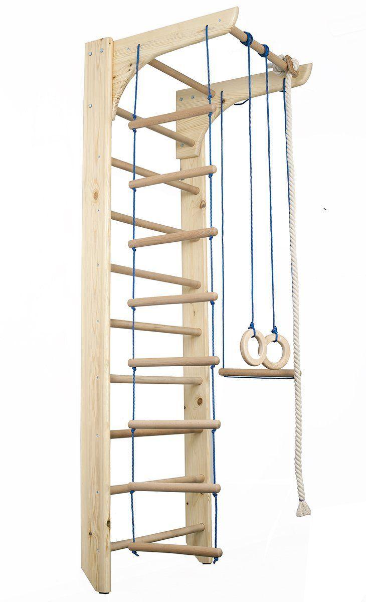 Tiny Wooden Indoor Playground FunnyClouds Kinder Kletterwand