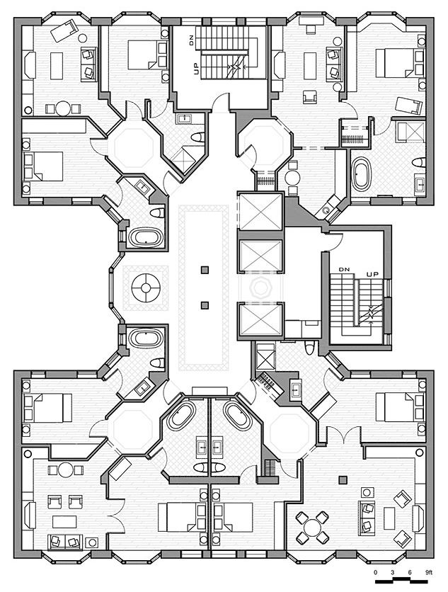 25 best ideas about hotel floor plan on pinterest for Hotel design layout