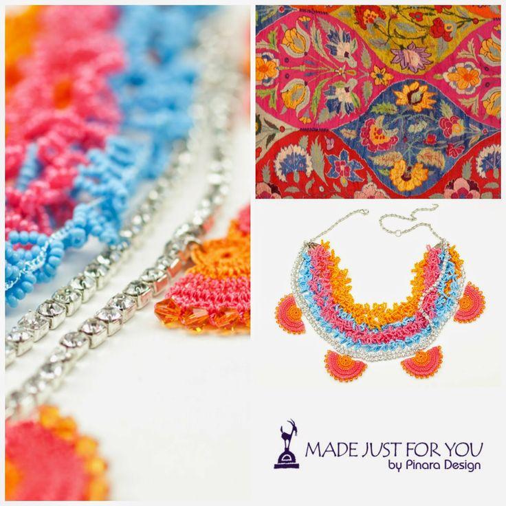 Support handmade... Shop UNIQUE!  Shop HANDMADE !  Pinara Design Boho Chic Fiber Art Jewelry & Accessories http://www.pinaradesign.etsy.com   Pinara Design Ancient Anatolia CollectionCroche...