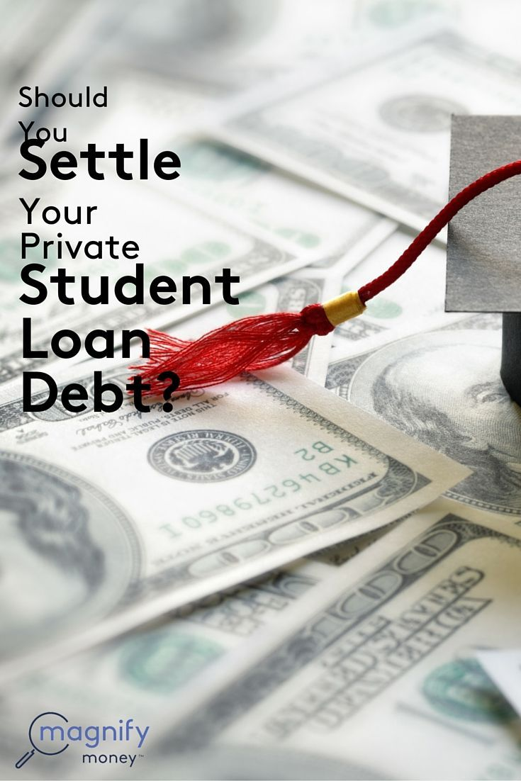 If you're asking yourself whether to settle your private student loan debt, then you're probably in a bit of financial trouble with your student loans. The first thing you should do is take a step back and assess what's happening. Understanding the full picture will help you make the right decision. http://www.magnifymoney.com/blog/college-students-and-recent-grads/settle-private-student-loan-debt322594026 Pay off Debt, Student Loan Debt #debt