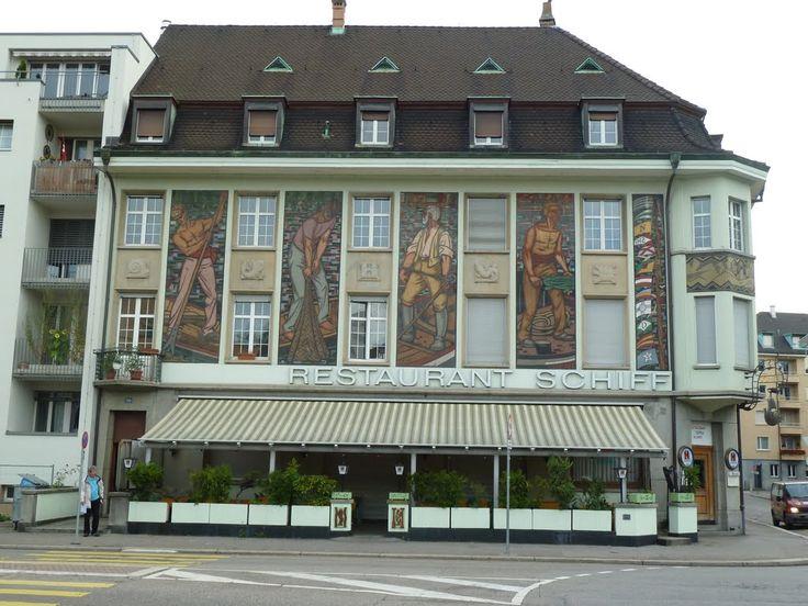 Das Restaurant Schiff in Kleinhüningen in der Stadt Basel. 25.07.2011