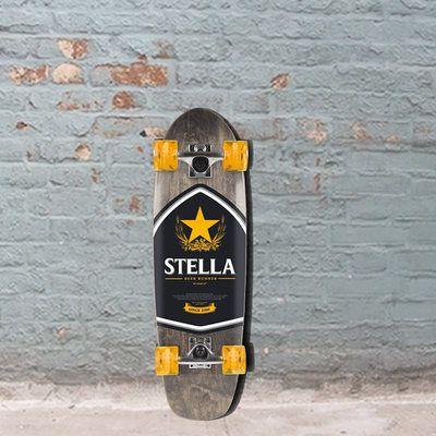 Stella Beer Runner Biru Cruiser 29 Longboard Skateboard