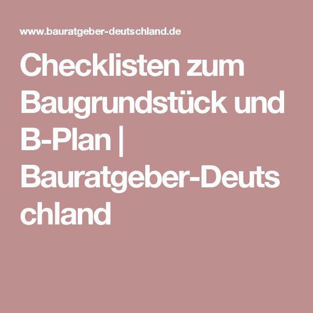 Checklisten Zum Baugrundstück Und B Plan   Bauratgeber Deutschland