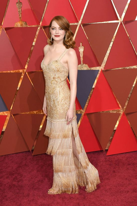 Oscars 2017: Emma Stone Became an Oscar in Givenchy Couture   Tom + Lorenzo
