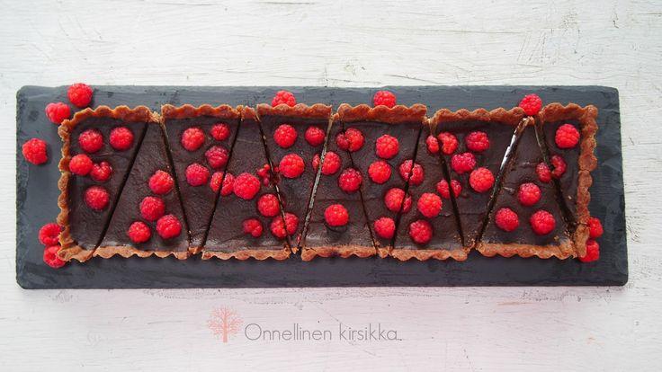 Chocolate raspberry tart (no eggs)