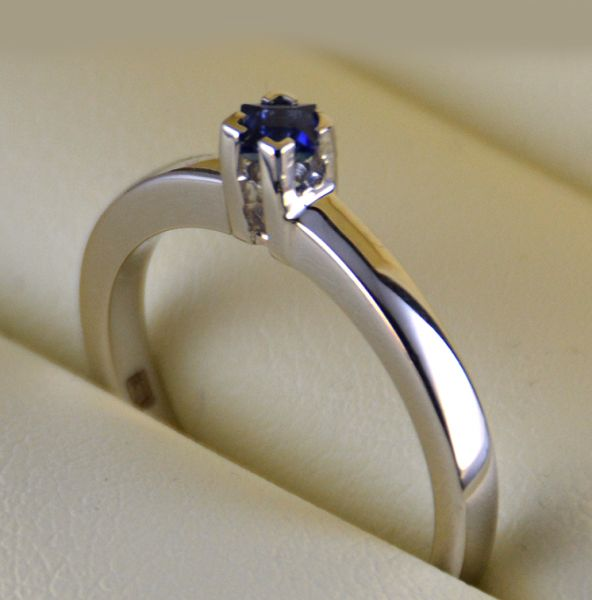 inel (logodna) cu safir
