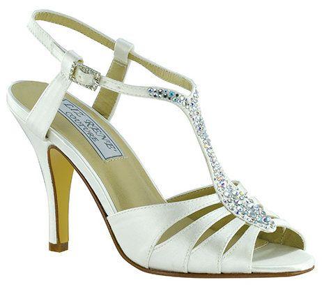 White Dyeable Silk Liz Rene Bliss Bridal Shoes