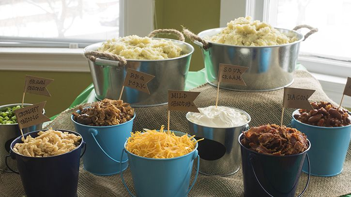 The big game calls for big flavors, and with an easily customizable mashed potato bar, you're bound to score big with your guests.