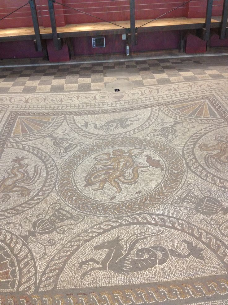 Mosaic Floor Fishbourne Roman Palace & Gardens Largest Roman Home in the UK