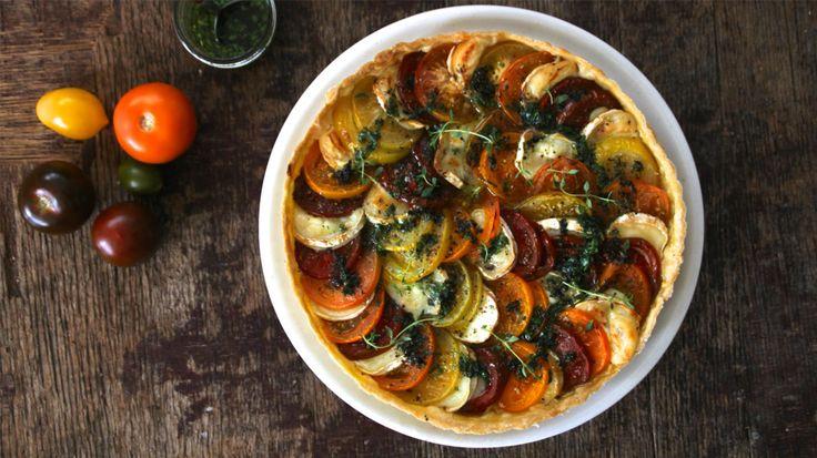 Tomatpai med chèvre à la «Mat på bordet»