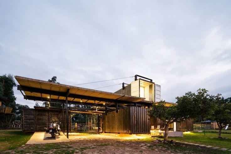 "Moreno Flores and Sebastian Calero's ""RDP House"" is an industrial-chic shipping container home in Ecuador."