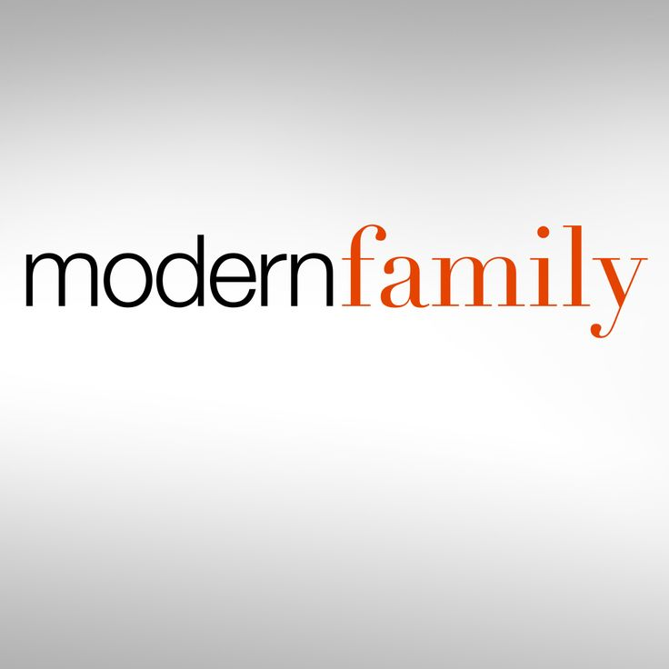 Yes, I like the show, but that's not the point. We are a modern family, and it's a beautiful thing.