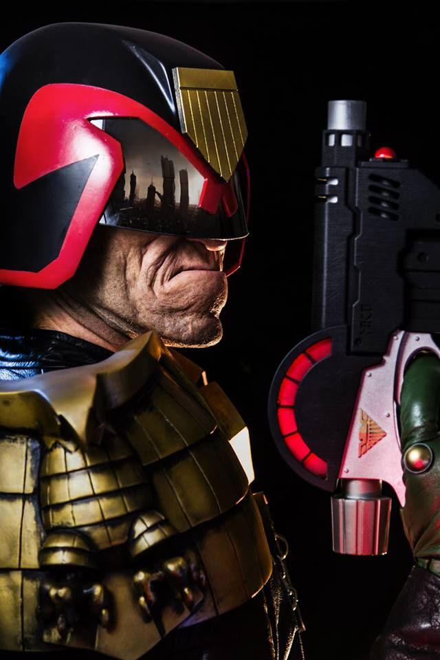 Simon Bisley Judge Dredd Make Up and Prosthetics by Patt Foad - Imgur SFX prosthetics and accessories