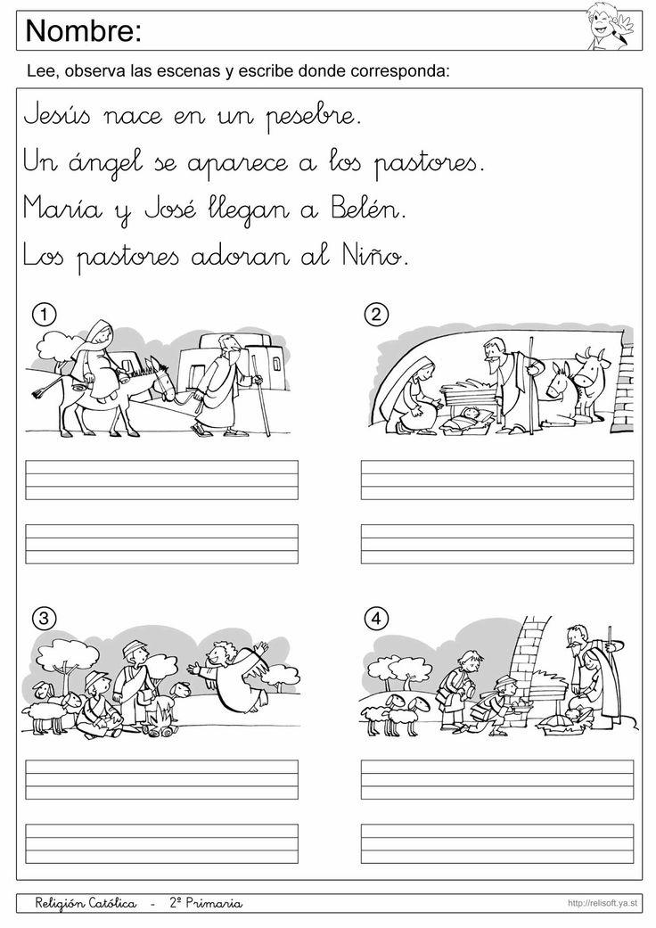 Recursos religion cat lica fichas 1 y 2 primaria for Grado medio jardin de infancia