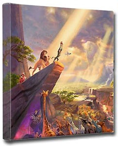 The Lion King - Gallery Wrapped - Thomas Kinkade - World-Wide-Art.com - $79.00 #Disney #Kinkade