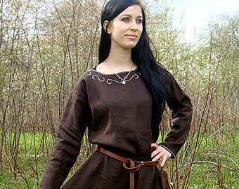 Scandinavian Apron Dress Early Medieval by SlavMedievalShop