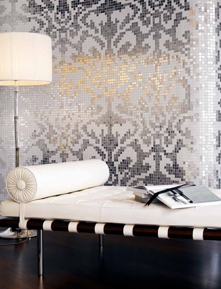 #Bisazza #Decori 2x2 cm Damasco Oro Bianco | #Gold on glass | on #bathroom39.com at 1727 Euro/box | #mosaic #bathroom #kitchen
