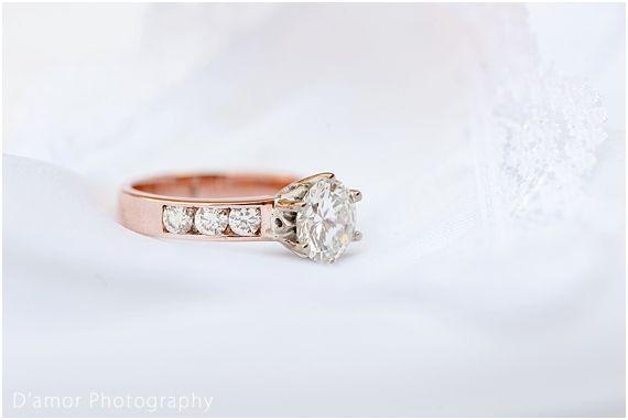 rose gold engagement ring | White Wedding Wonderland at Thaba Ya Batswana | http://damorphotography.co.za/ben-estune-white-wedding-wonderland-at-thaba-ya-batswana/