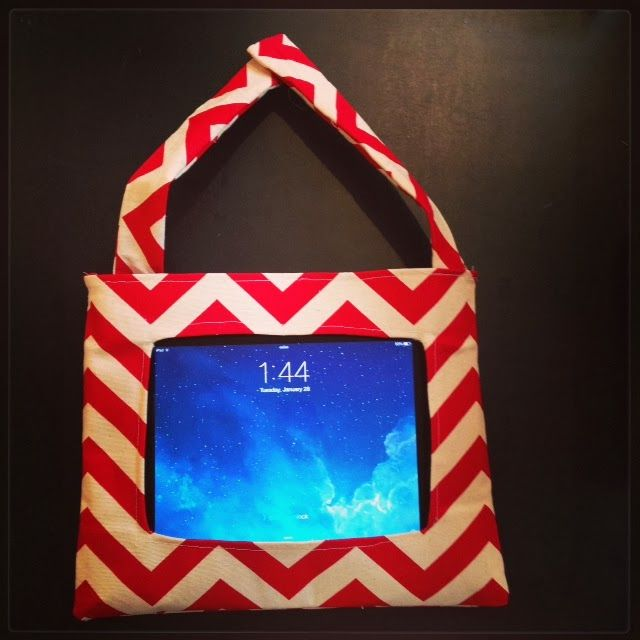 DIY IPad holder for car - from The Part-Time DIY Mom