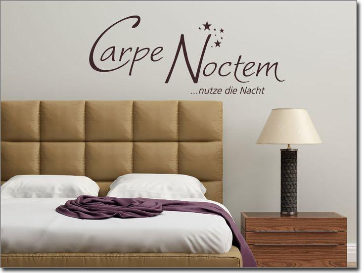 Wandtattoo Spruch Carpe Noctem