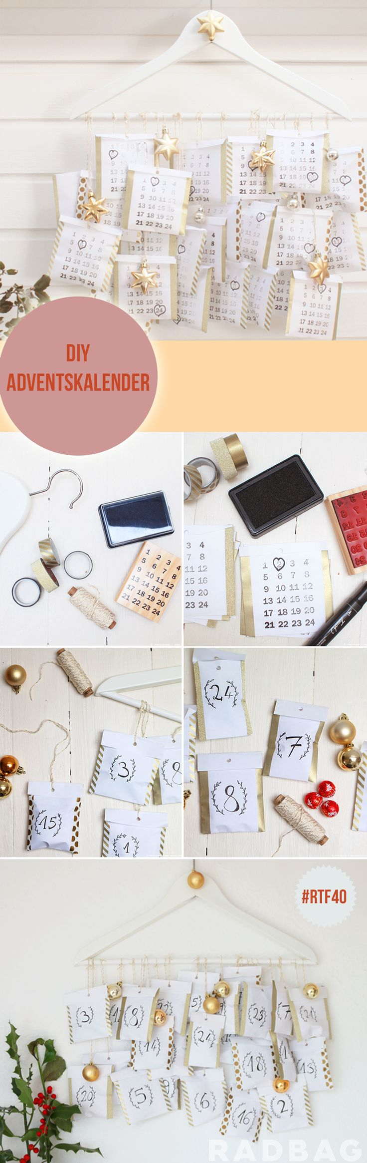 Adventskalender DIY | last minute geschenkideen advent weihnachtsbastelideen basteln bastelideen kalender calendar