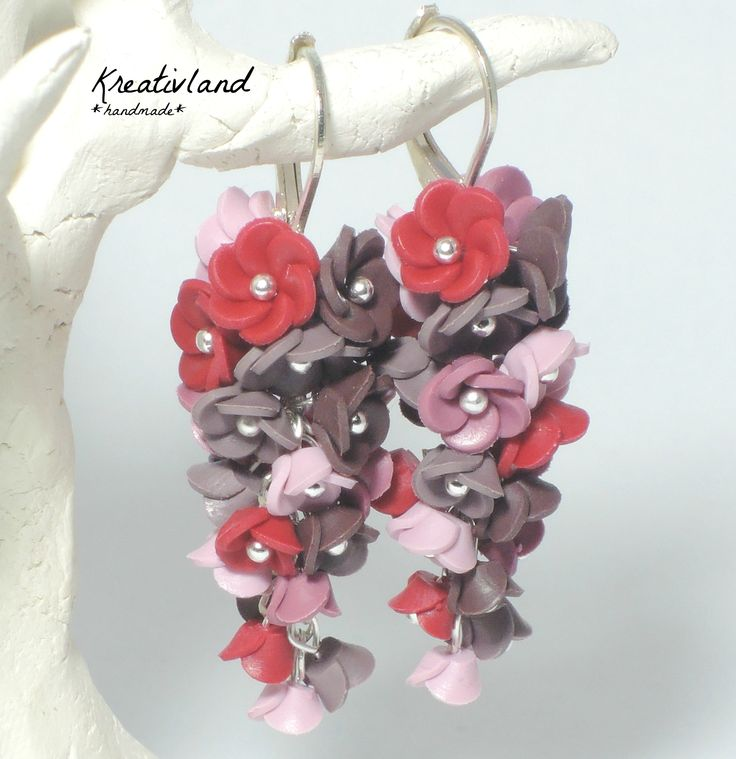 Cherry blues - handcrafted from polymer clay (own design)