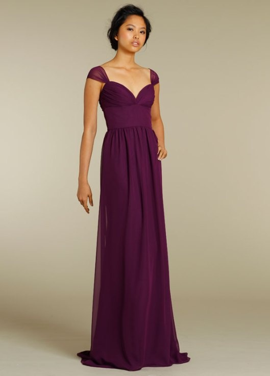 Long Maroon Bridesmaid Dress – I really like the style of this! Does it come in …