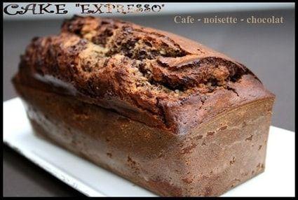 """Cake marbré """"Merano"""" café-noisettes-chocolat"""