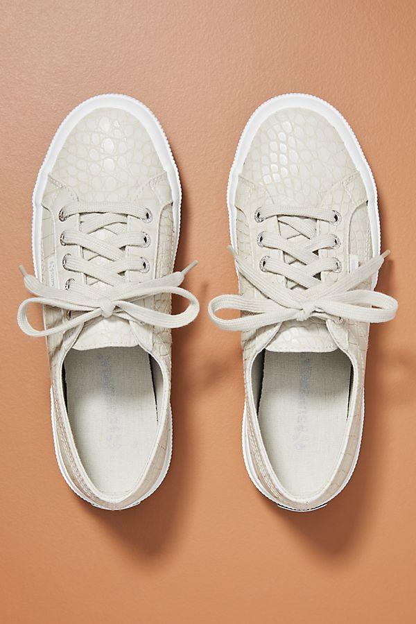 Superga Crocodile-Embossed Sneakers
