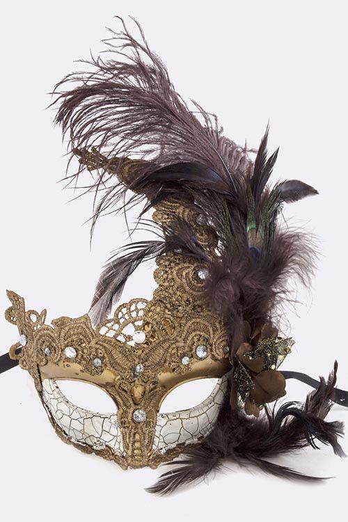 Venetian Feathered Mask