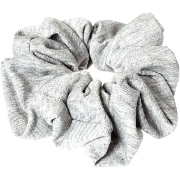 ASOS Jersey Scrunchie ($5.37) ❤ liked on Polyvore featuring accessories, hair accessories, fillers, hair, grey, asos and scrunchie hair accessories