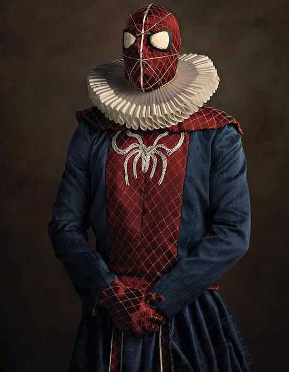 """Sacha Goldberger is a French photographer who specializes in fashion and advertising. Sacha's photo series """"Super Flemish"""" perfectly expresses the timeless quality of some of our favorite superheroes and villains, by re-imagining them as 16th-century Flemish portrait models."""