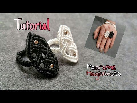 Macrame Celtic Ring ♥ How To Make Celtic Knot ♥ Macrame Magic Knots - YouTube