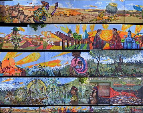 Primer Encuentro Comunal Muralismo Recoleta, Santiago. Chile