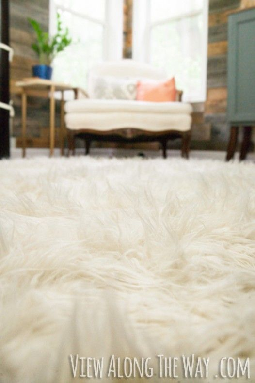 DIY shag rug! Total cost at around $70, which is amazing! I've been eyeing rugs like this for weeks, so I'm definitely making this MUCH cheaper option as soon as Kyle and I move in.