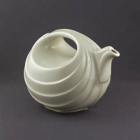Hall China Rhythm Teapot In White Form 1400 Pottery