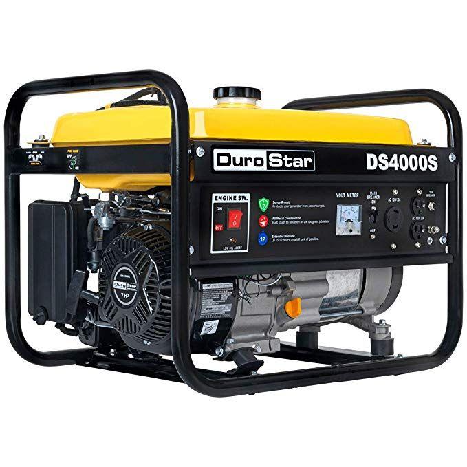 Amazon Com Generador A Gas Portatil Ds4000s Que Arranca A 4000 Vatios Y Funciona A 3300 Vatios Duro Best Portable Generator Portable Generator Generator House