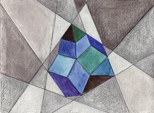 alice stori at storialab geometria nr. 132 #geometry #illustration #diamond