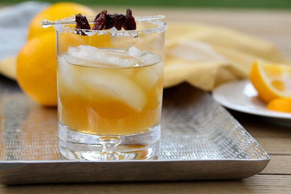 Sidecar Cocktail with Dried Cherries | To Eat | Pinterest