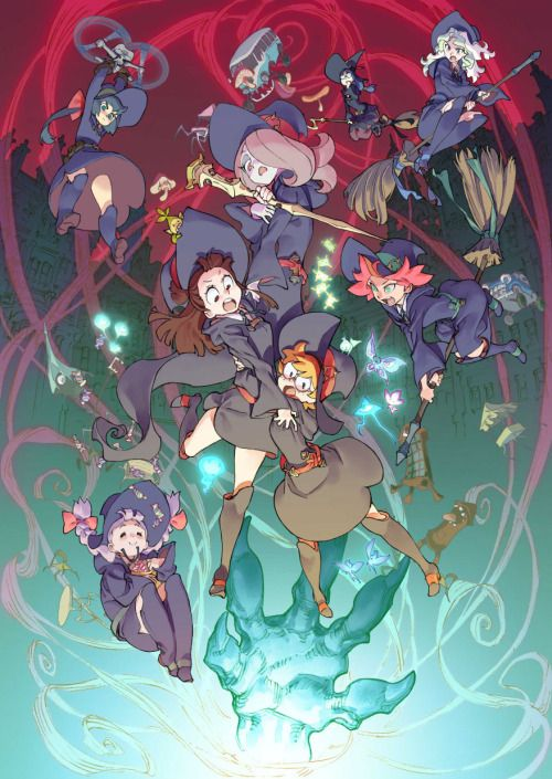 """Nice poster by Yoh Yoshinari for japanese theater release of """"Little Witch Academia 2 : The Enchanted Parade"""" (Studio Trigger)."""
