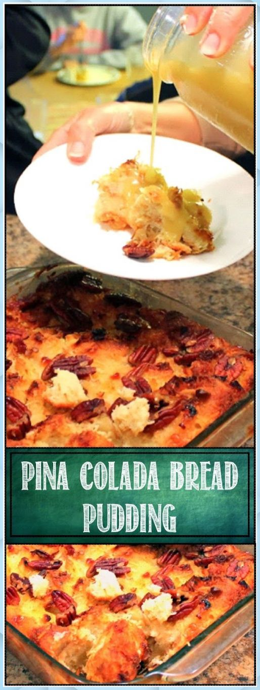 Mar 24, 2020 – Pina Colada Bread Pudding with an optional (Virgin) Rum – Chocolate Bread Pudding #best chocolate bread p…