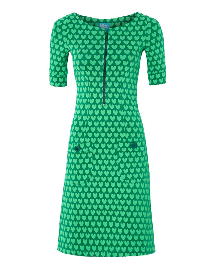 Dress Zippie Hearts Green