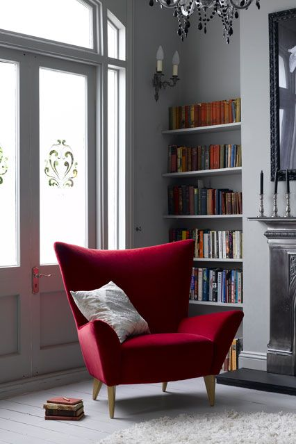 Reading Room - Bookshelf Ideas - Living Room & Study Design Ideas (houseandgarden.co.uk) Want to recreate the look? To see our fantastic collection of desk and task lamps click here: http://www.shinelighting.co.uk/all-lighting/interior-lighting/table-floor-lamps/type/desk-+-task