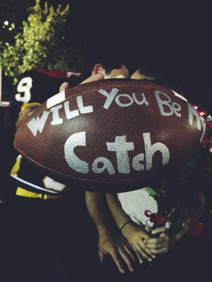 Football homecoming proposal                              …