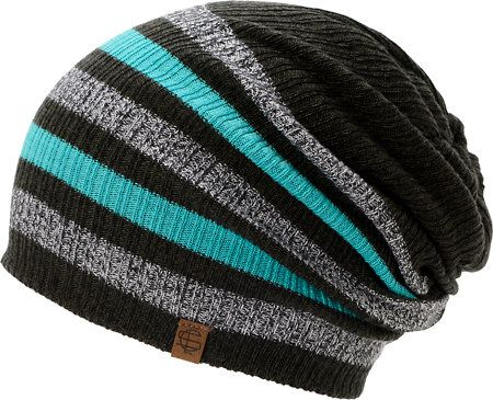 Empyre Girls Zodiac Black, Teal, Charcoal Stripe Beanie at Zumiez : PDP