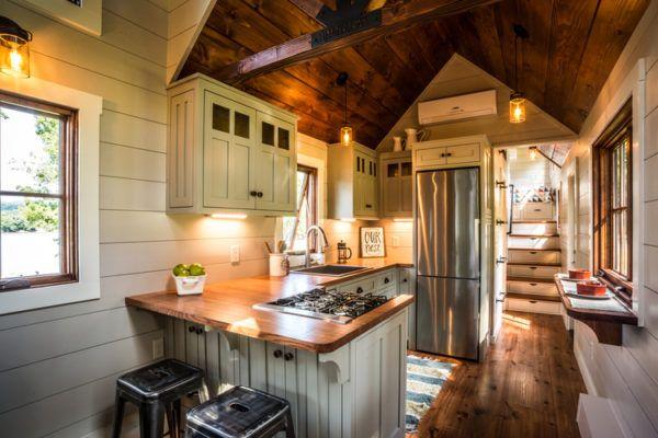 The 37' Denali by Timbercraft Tiny Homes Kitchen
