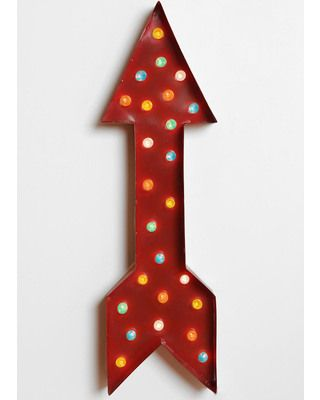 Love. Sigh. Expensive.   Light up your space with this arrow marquee sign! Get it here: http://www.bhg.com/shop/urban-outfitters-exclusives-marquee-arrow-light-p51b1c1bae4b0b8328a8e848b.html
