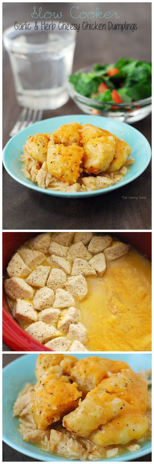 Garlic & Herb Cheesy Chicken Dumplings. #dinner: Cheesy Chicken, Fall ...