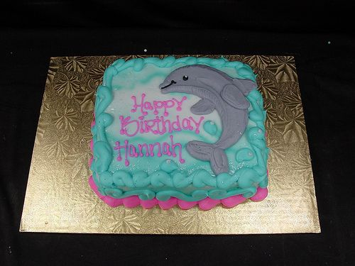 Dolphin Birthday Cake