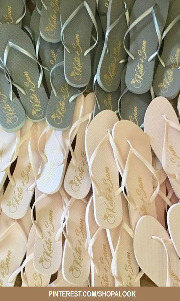 Wedding Favors For Guests In Bulk Personalized Wedding Flip Flops Afflink Wed Flip Flop Wedding Favors Personalized Wedding Favors Wedding Favors For Guests